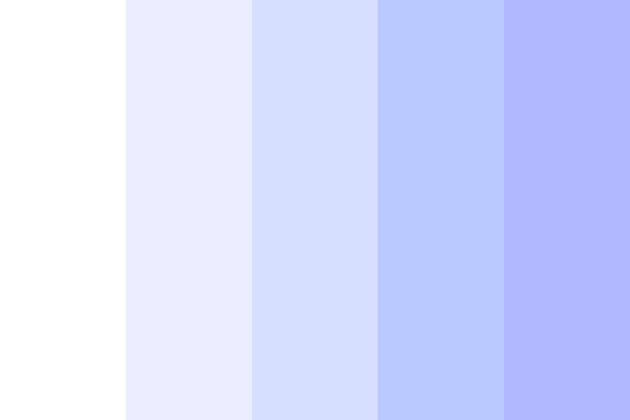 white To Blue  Color Palette
