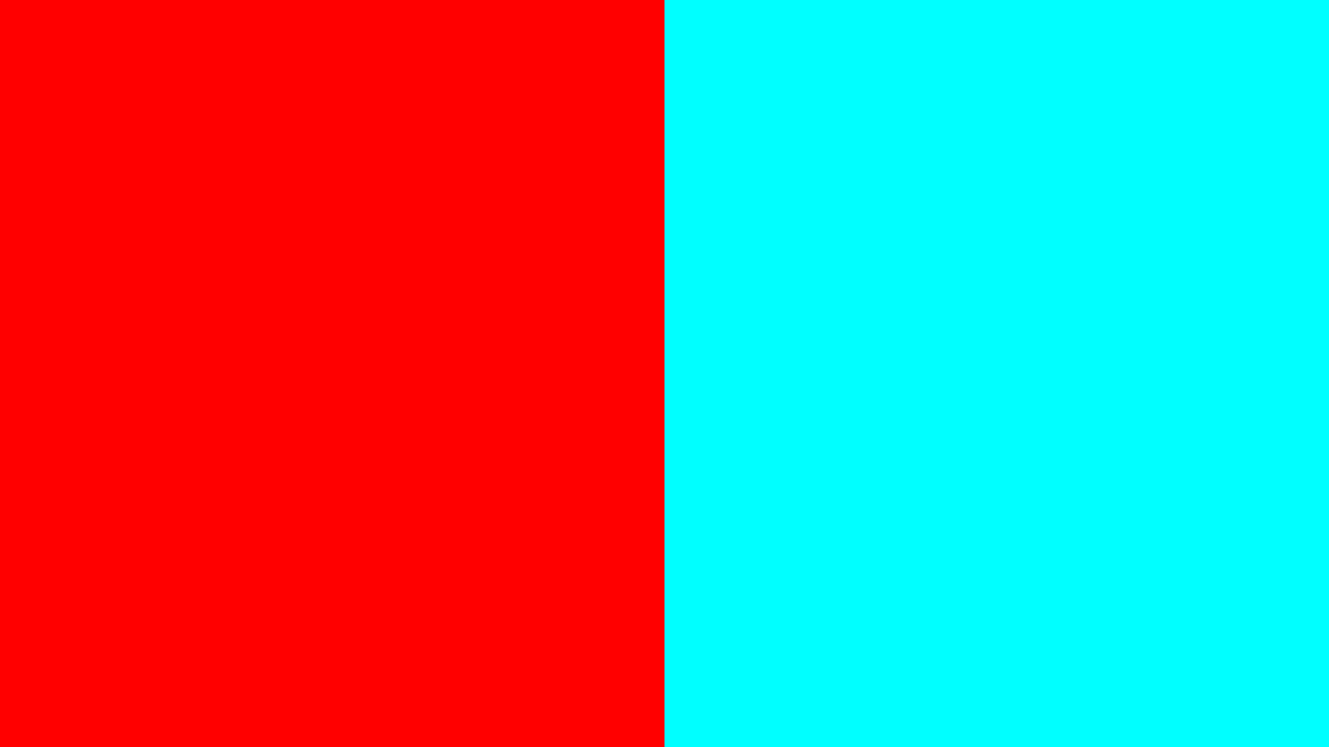 3D Red And Cyan (Blue) Color Palette