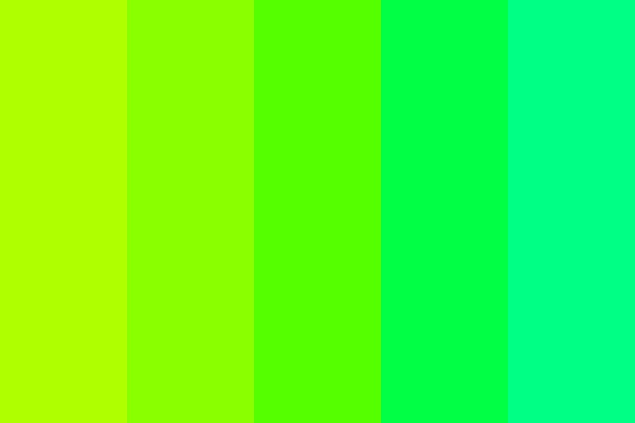 A Collection Of Greens Color Palette