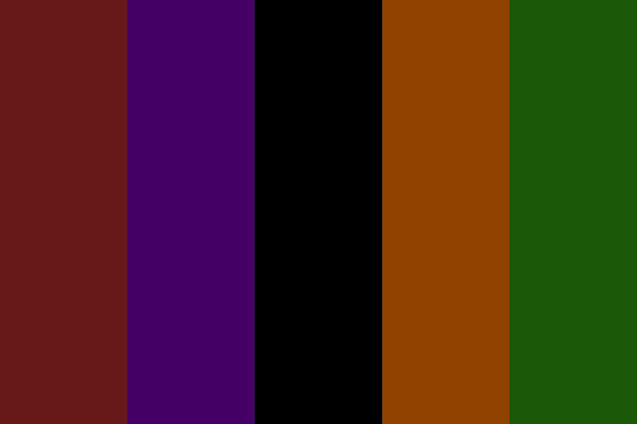 A Halloween Night Color Palette