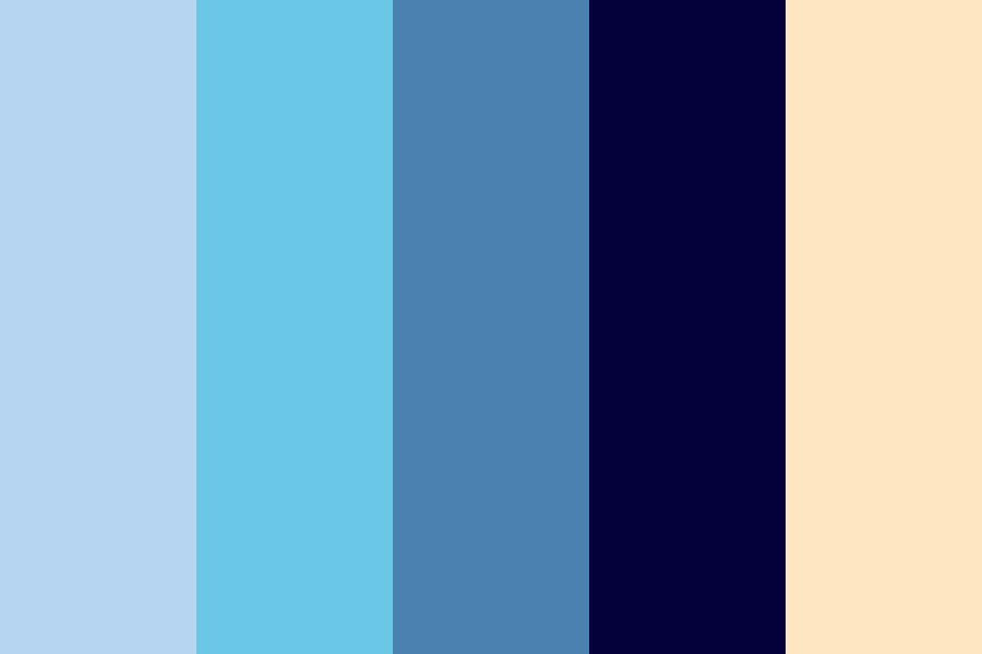 A Lone Man In The Depths Of The Ocean Color Palette
