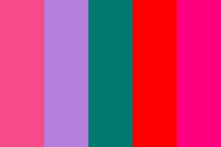 Alexandrite And Red Roses Color Palette