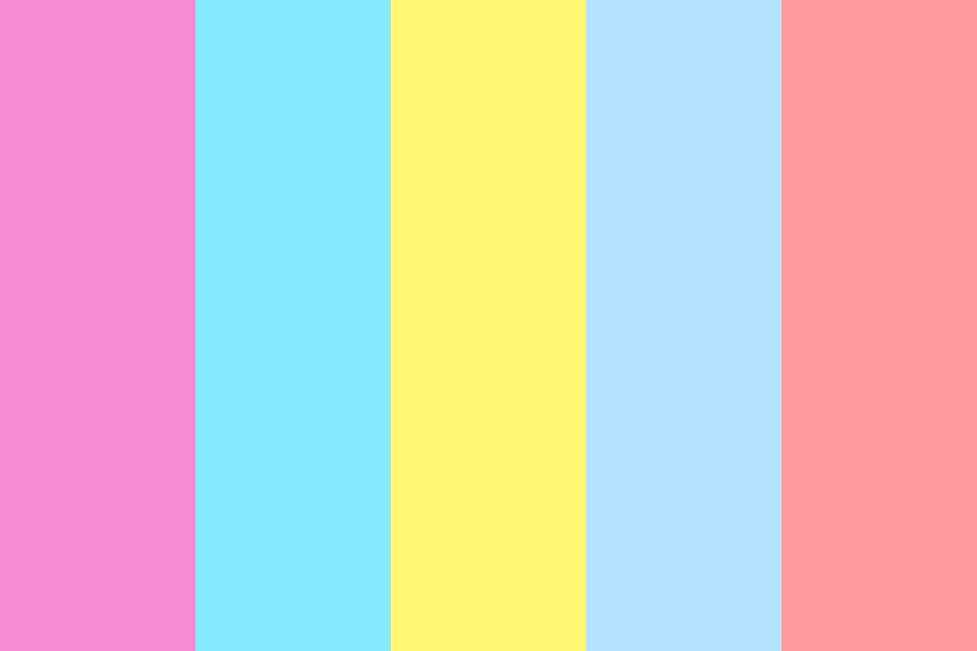 All Pink And Yellow Color Palette