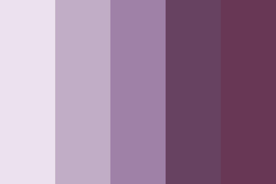 All Purple Shades Color Palette
