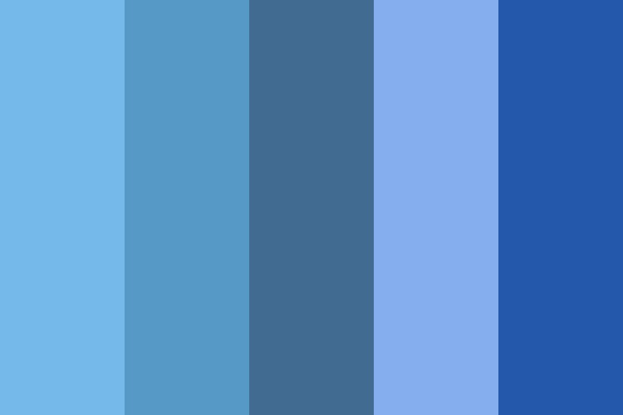 All Shades Of Blue Color Palette