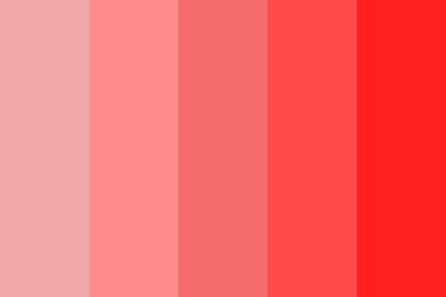 And All He Saw Was Red Color Palette