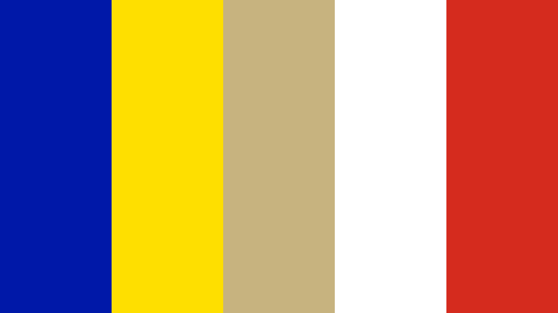 Andorra Flag Color Palette