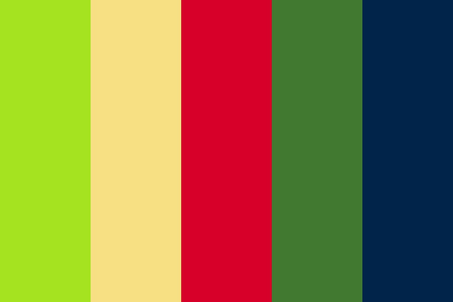 Angry Bird Space Color Palette