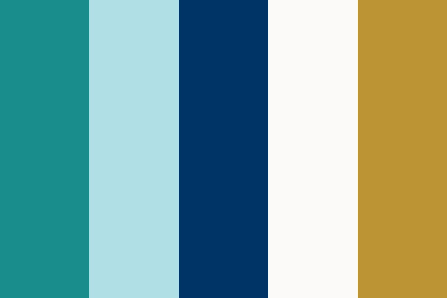 Aqua Gets Gold And Bold Color Palette