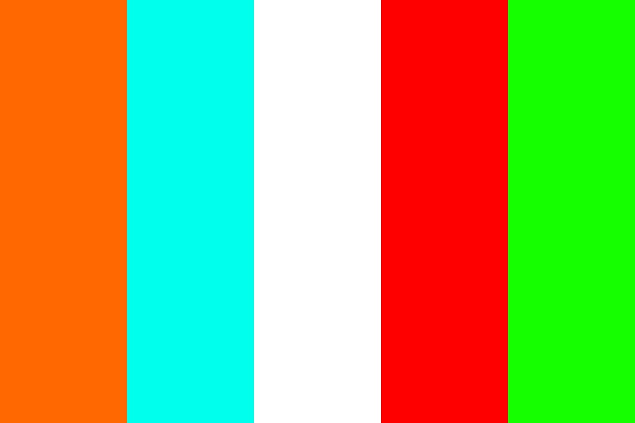 Aqua Green Orange Red Color Palette