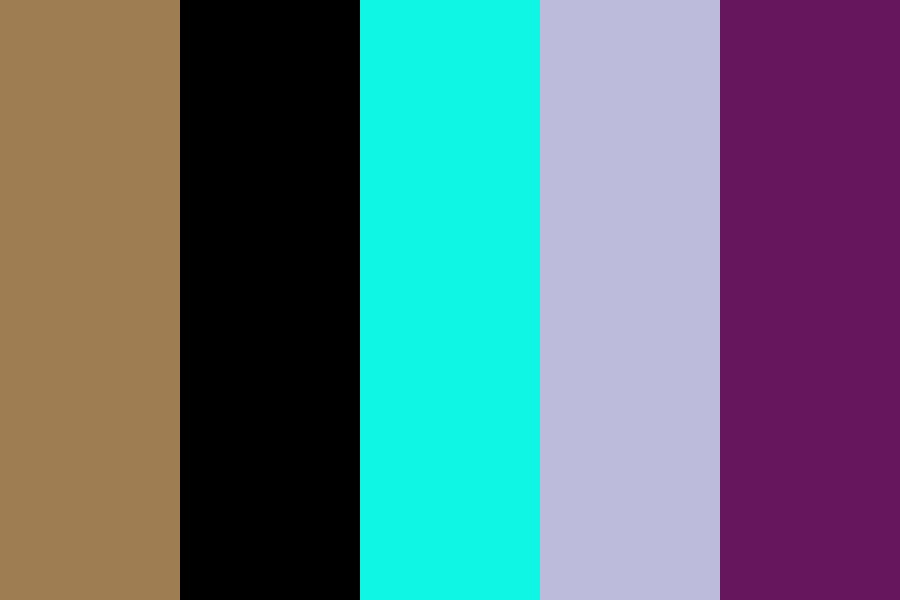 Aqua Kraft Purple Color Palette