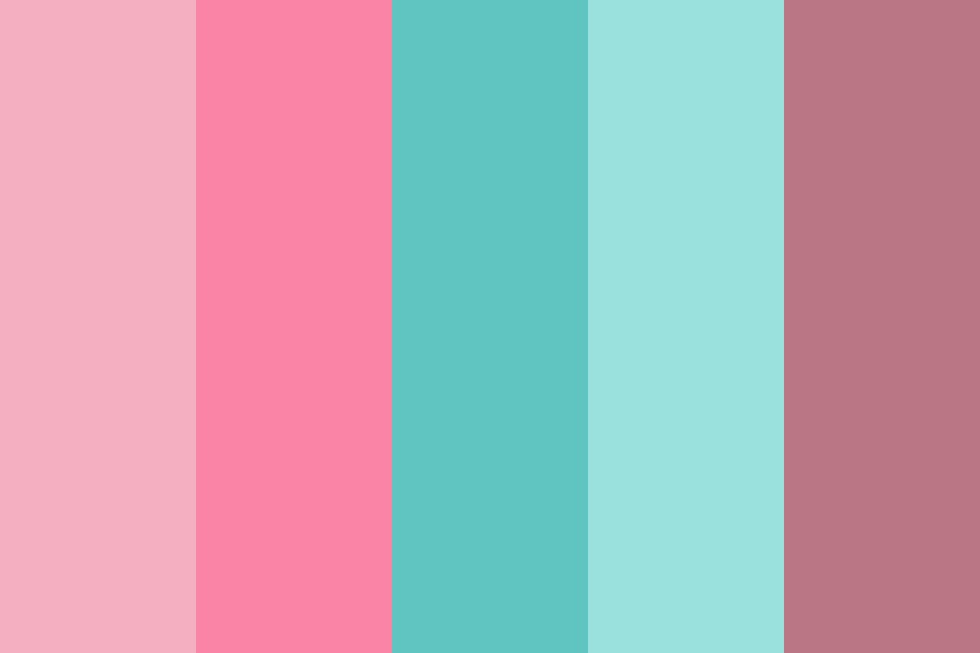 Aqua Pink Antique Color Palette