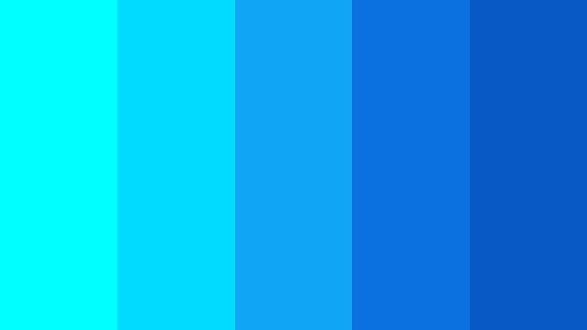 Aqua With Blue Color Palette