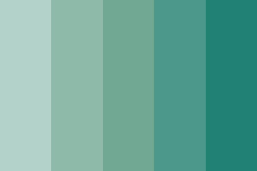 Aquamarine Gemstone Color Palette