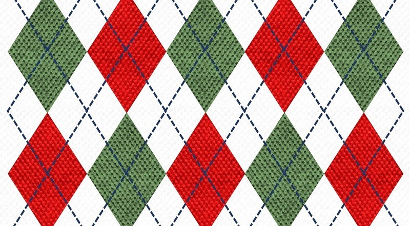Argyle Christmas Sweater Color Palette