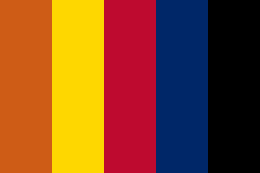 Arizona Flag Color Palette