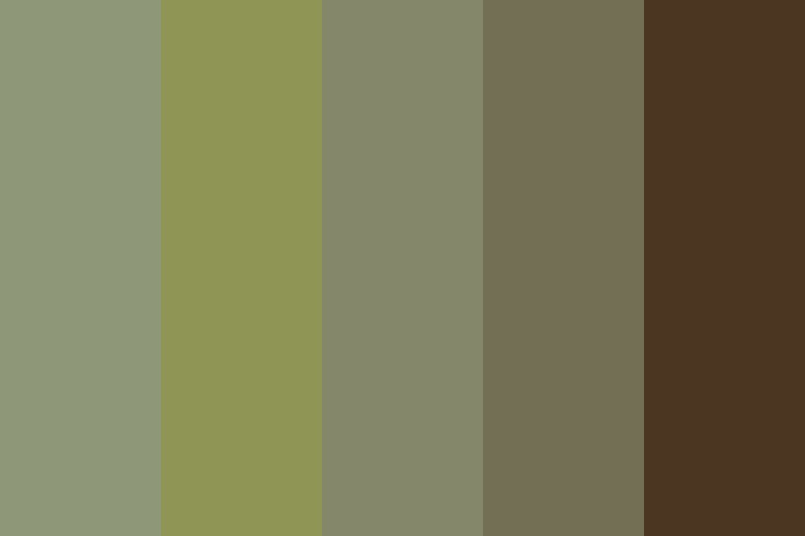 Asparagus And Earth Color Palette