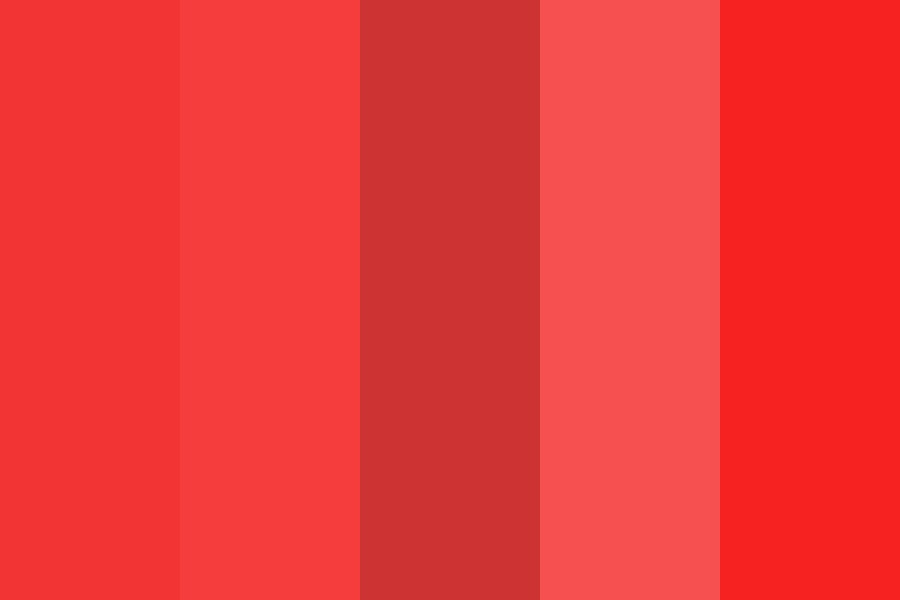 Assorted Reds Color Palette