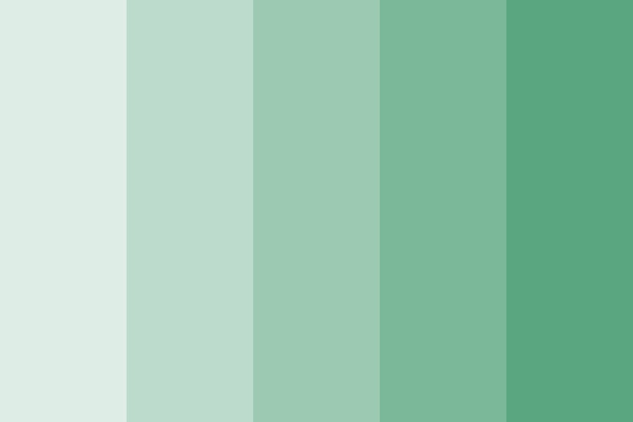 Athena Greens Color Palette