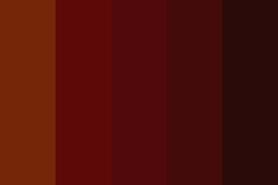 Auburn Red Hair Swatches Color Palette