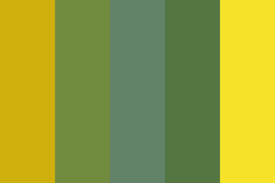 Autumn Sunflower Color Palette