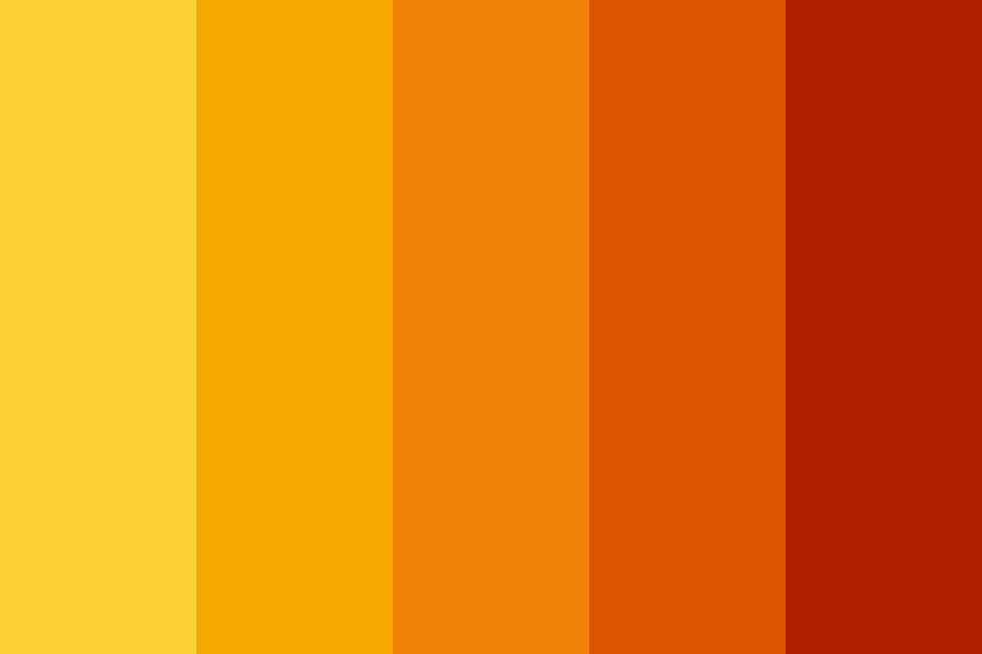 Autumn Sunset Glory Color Palette
