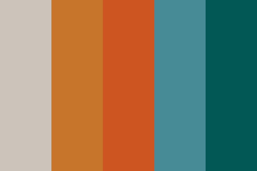 Autumn Teal Color Palette