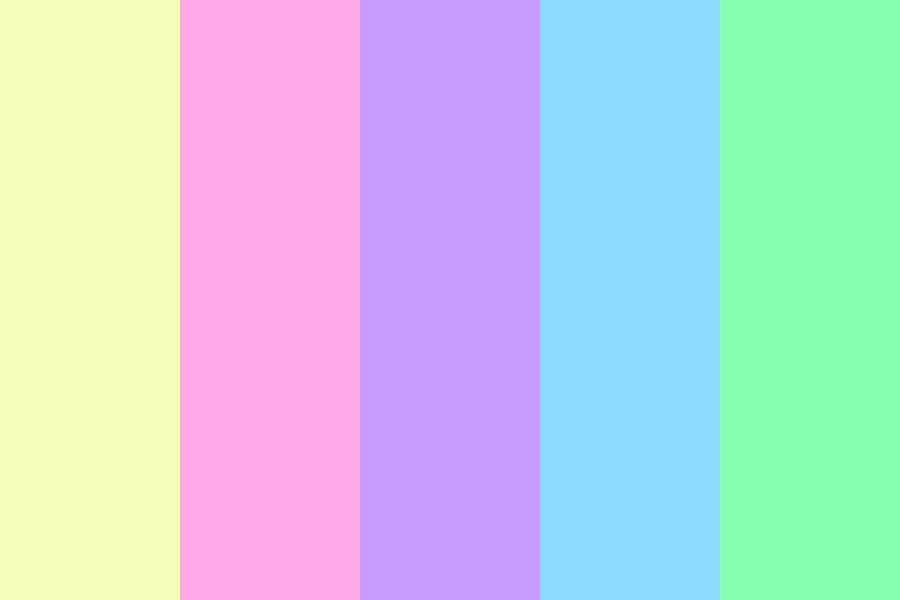 Baby rainbow Color Palette