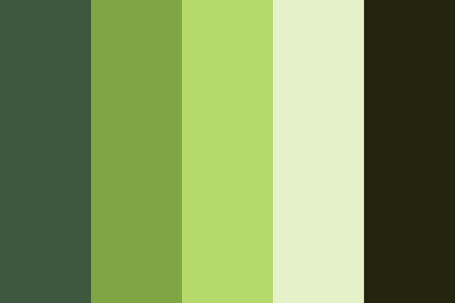 Bamboo forest Color Palette