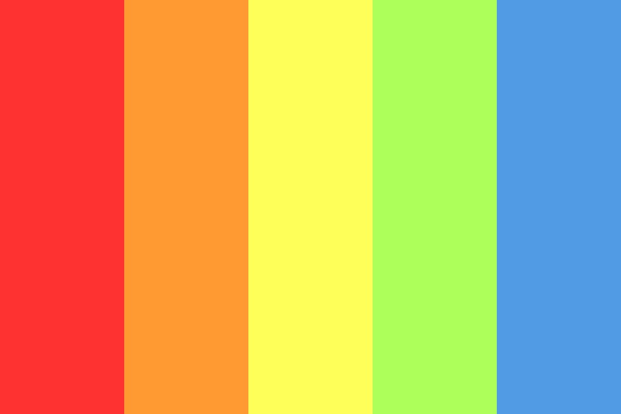 Basic Rainbow Color Palette
