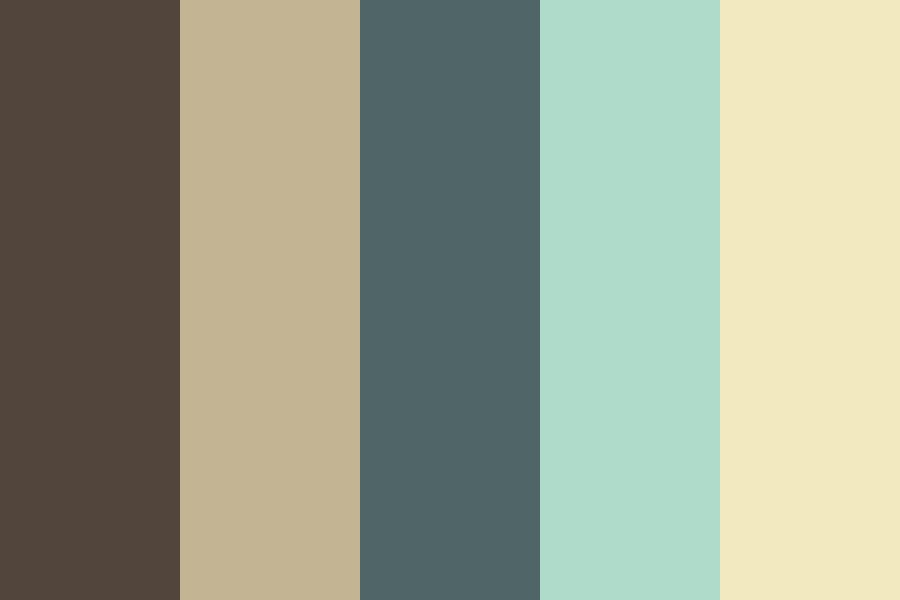 Beach By The Forest Color Palette