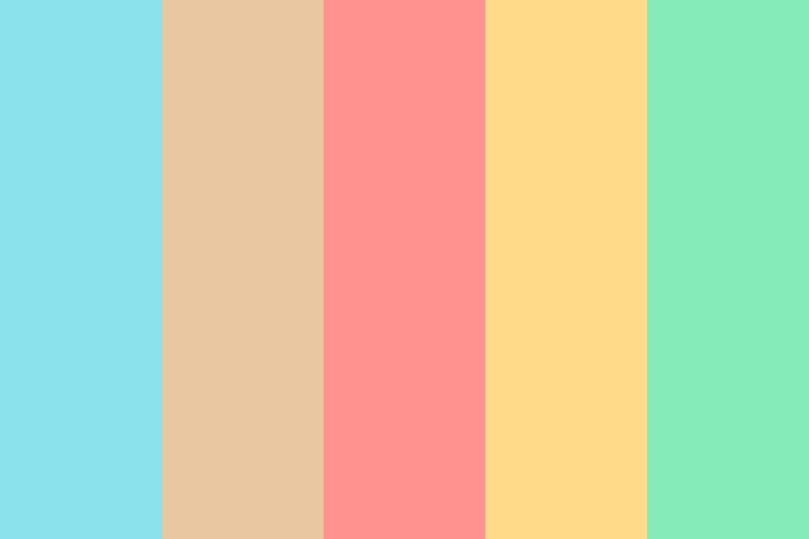Beach Life High Noon Color Palette