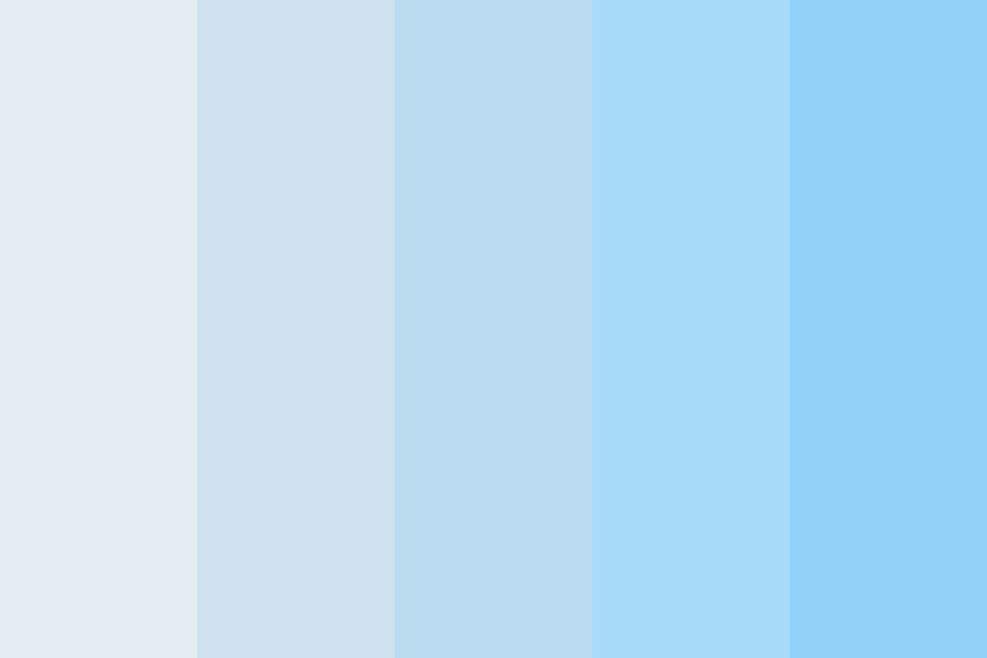 Beautiful Blue Skies Color Palette