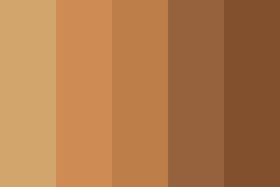 Beautiful Brown Color Palette