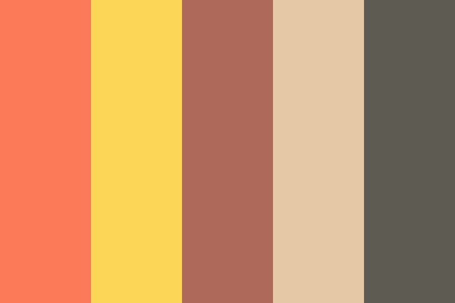 Beautiful Brown Sugar Color Palette