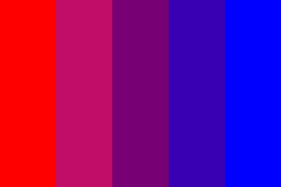 Beautiful Red Blue Color Palette