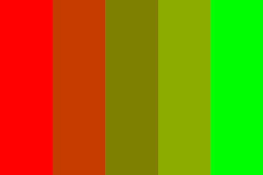 Beautiful Red Green Color Palette