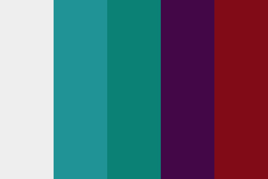 Bedroom   Teal And Burgundy Color Palette