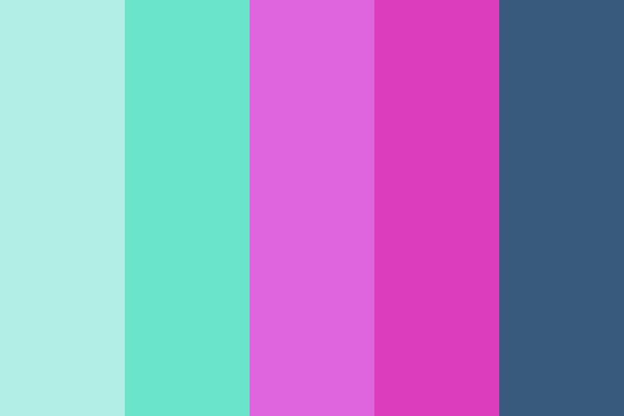 Berry And Teal Color Palette