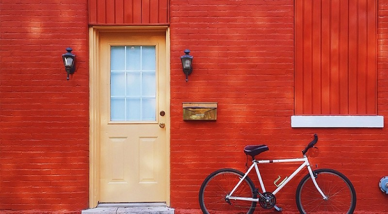 Bike On Red Wall Color Palette