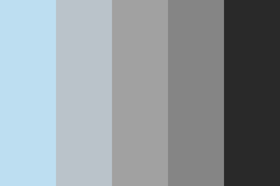 Black   Blue Color Palette