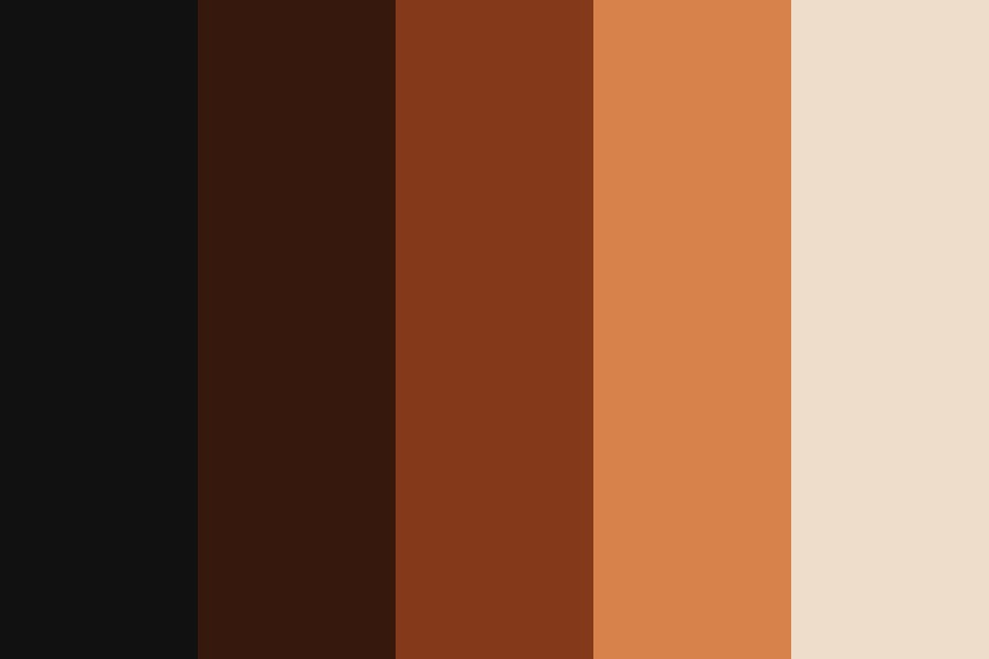 Black Brown Red Fawn White Color Palette