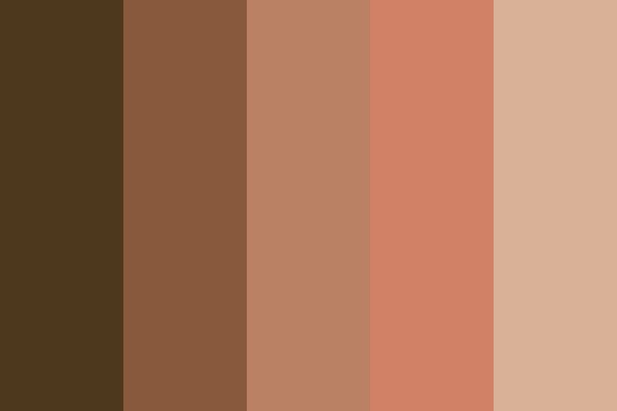 Black Flesh Colors Color Palette
