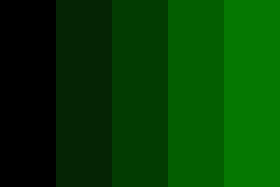 Black To Green Shade Color Palette
