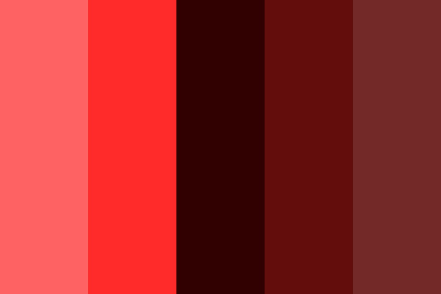 Bleeding Red Color Palette