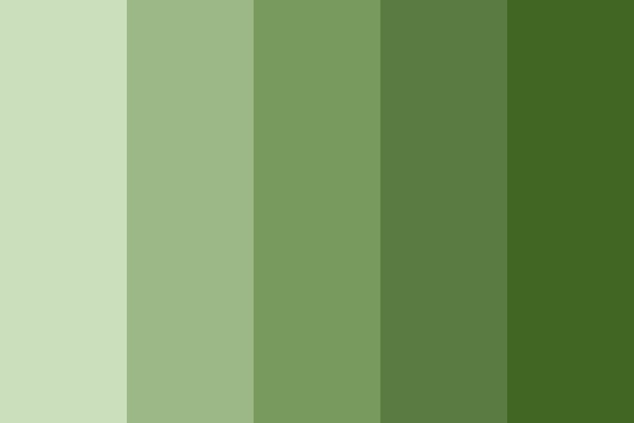 Blog Green Color Palette