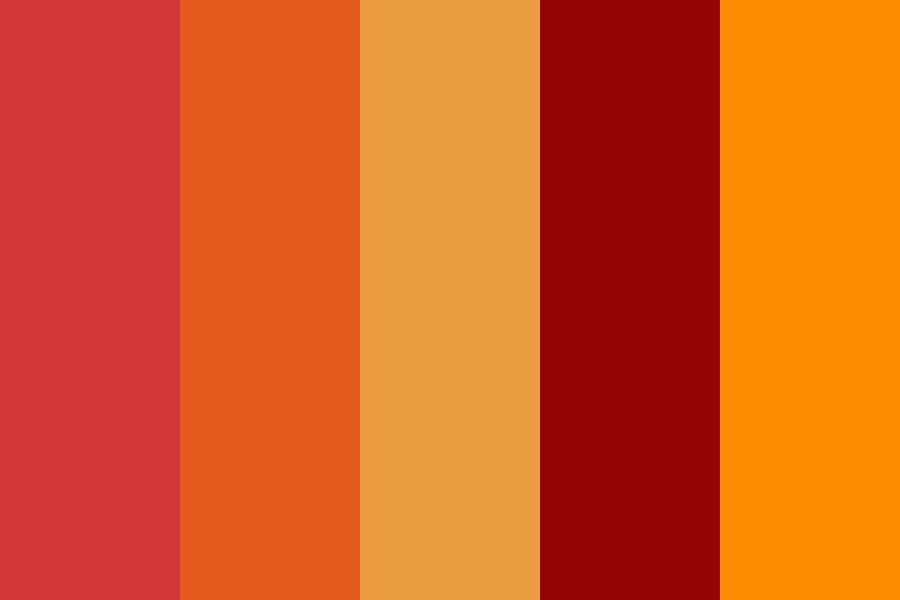 Blood Oranges Color Palette