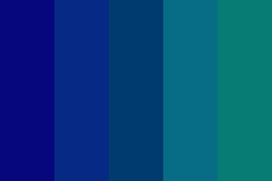 Blue Analagous Color Palette