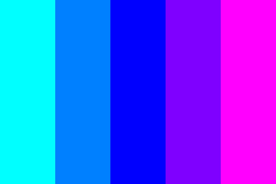Blue Analogous Color Palette