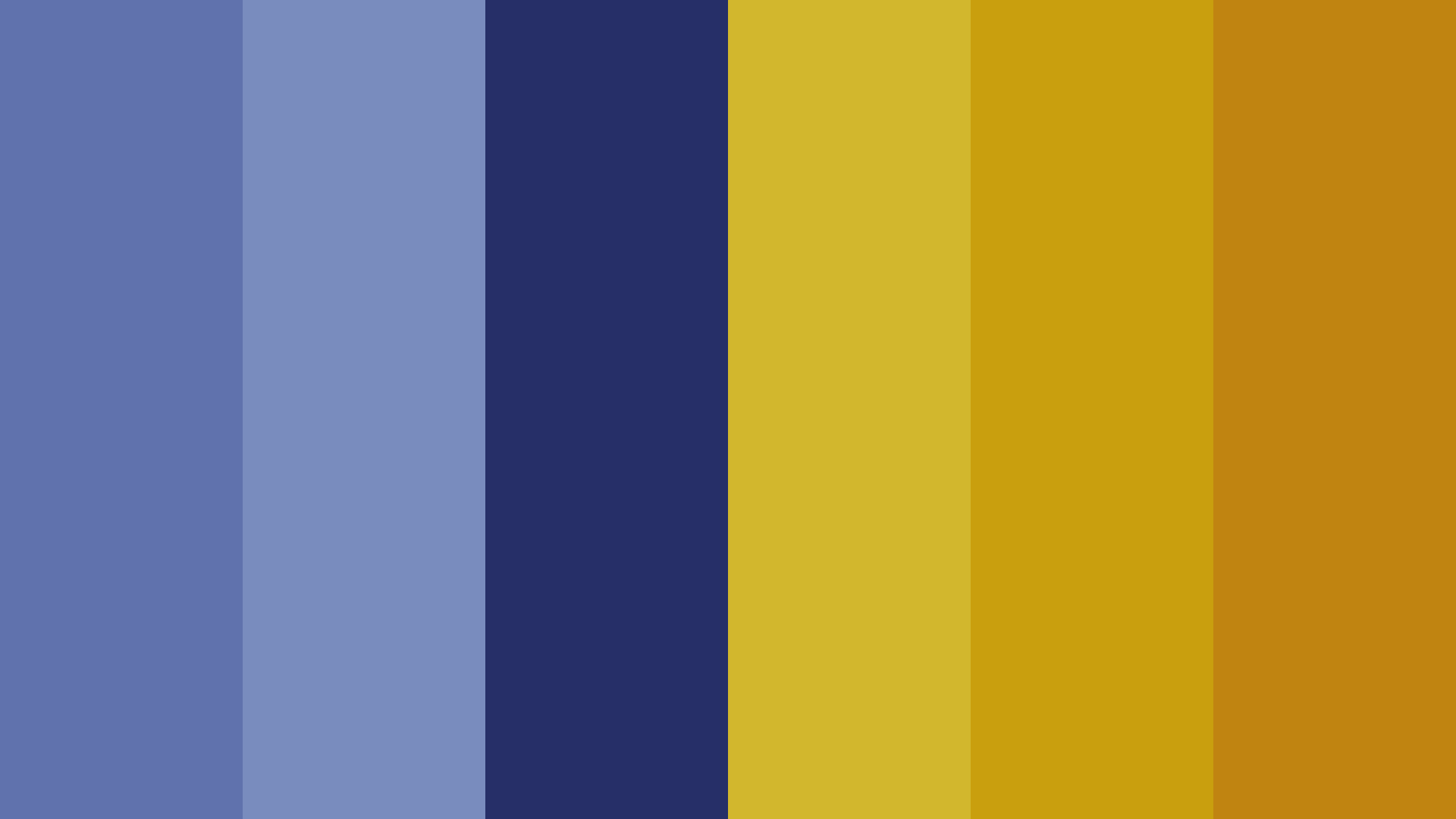 Blue And Dull Gold Color Palette
